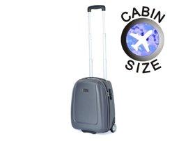 "Mała walizka ""MINI"" PUCCINI ABS01 D szara antracyt"